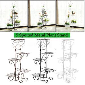 5-Tier-Metal-Plant-Stand-Flower-Pot-Holder-Shelf-Rack-Garden-Home-Indoor