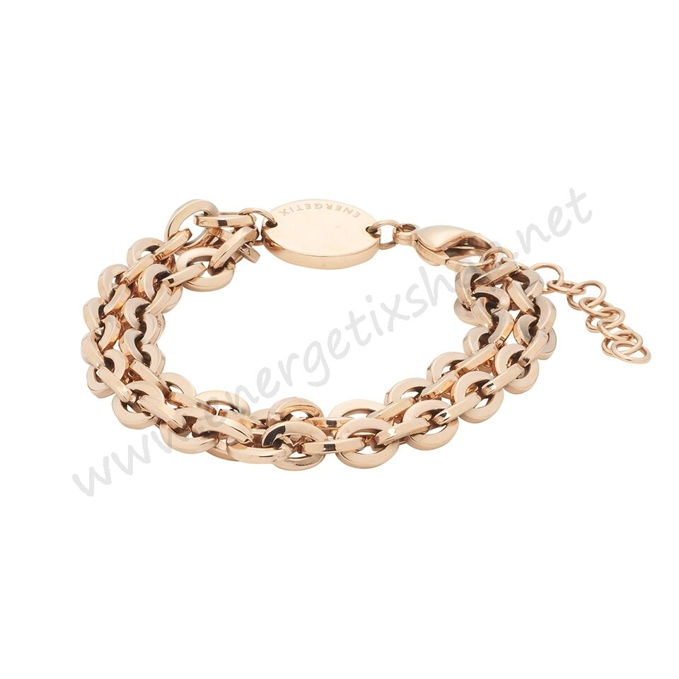 Energetix Magnetic Decoration Women's Stainless Steel Bracelet pink gold Plated
