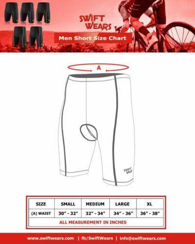 Mens Cycling  Shorts Padded Mens Tights Leggings short Cool Max Anti Bac Pad UK