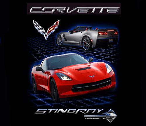 Corvette Joe Blow GM C7 Stingray Emblem 100/% Cotton Adult T-Shirt by Joe Blow