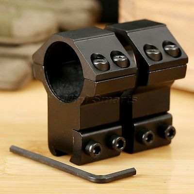 "25.4mm 1"" High Profile Picatinny Weaver Scope Laser 11mm Rail Mount Rings 2PCS"