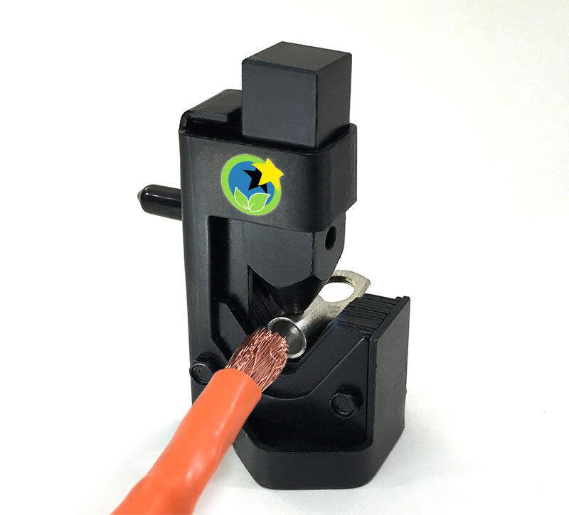 Large Gauge Hammer Crimper 1//0 to 8 Gauge AWG Wire Crimper with ABS Storage Box