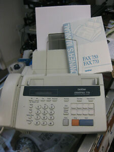 Brother Intellifax 770 Home Office Plain Paper Fax Machine Manual & Accessories