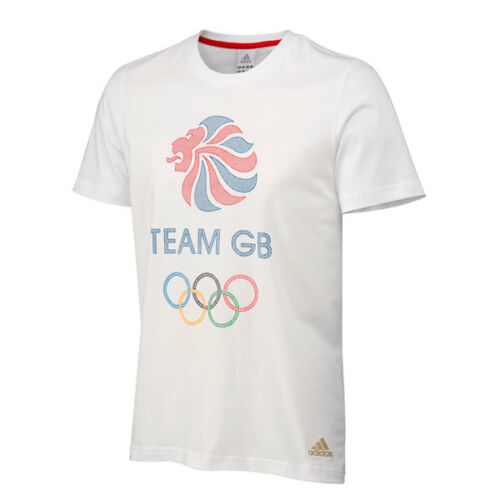 Official Adidas Olympic LONDON 2012 m GB Logo Men's TShirt W64533
