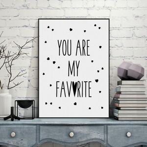 Image Is Loading You Are My Favorite Quote Canvas Print Poster