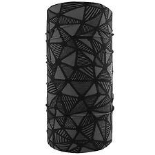 Black Gray Mozaic Art Deco Motley Tube Multi Function Headwear Biker Bandanna
