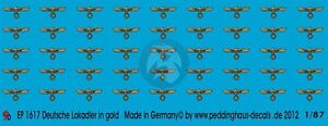 Peddinghaus-1-87-HO-DRB-German-Locomotive-Eagle-Markings-WWII-Gold-1617