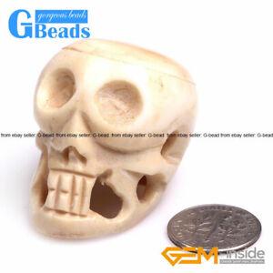 Halloween Carved Bone Skull Jewelry Making Decoration Large Beads Bulk Ebay