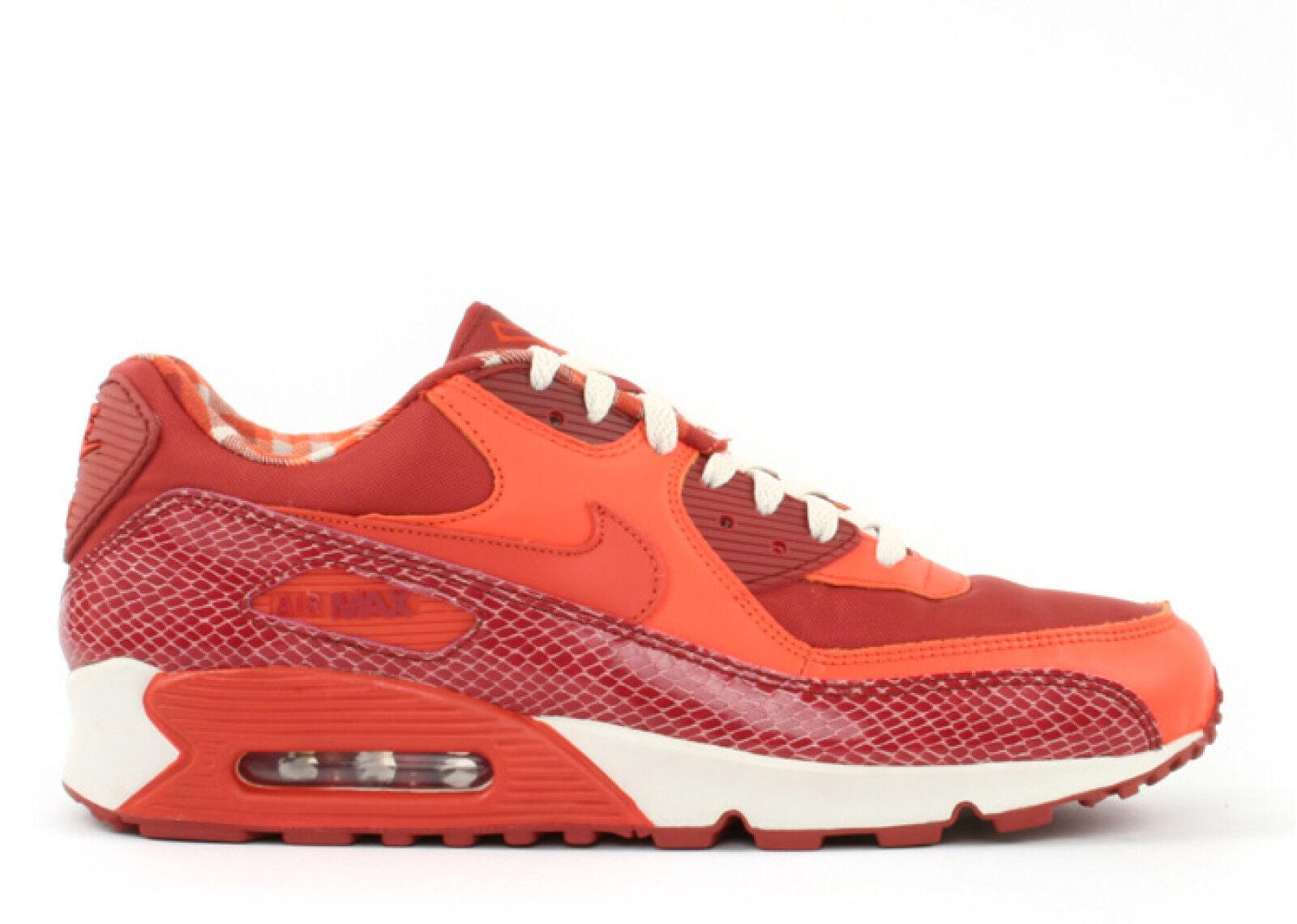 buy online 5cf36 d68af Nike Air Max 90 90 90 QK Steve Nash 8 Red orange Snakeskin PHX Suns Jordan