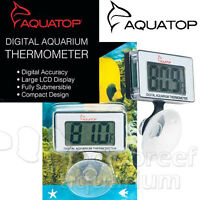 Submersible Digital Thermometer With Suction Cup Mount Large Lcd Display Aquatop