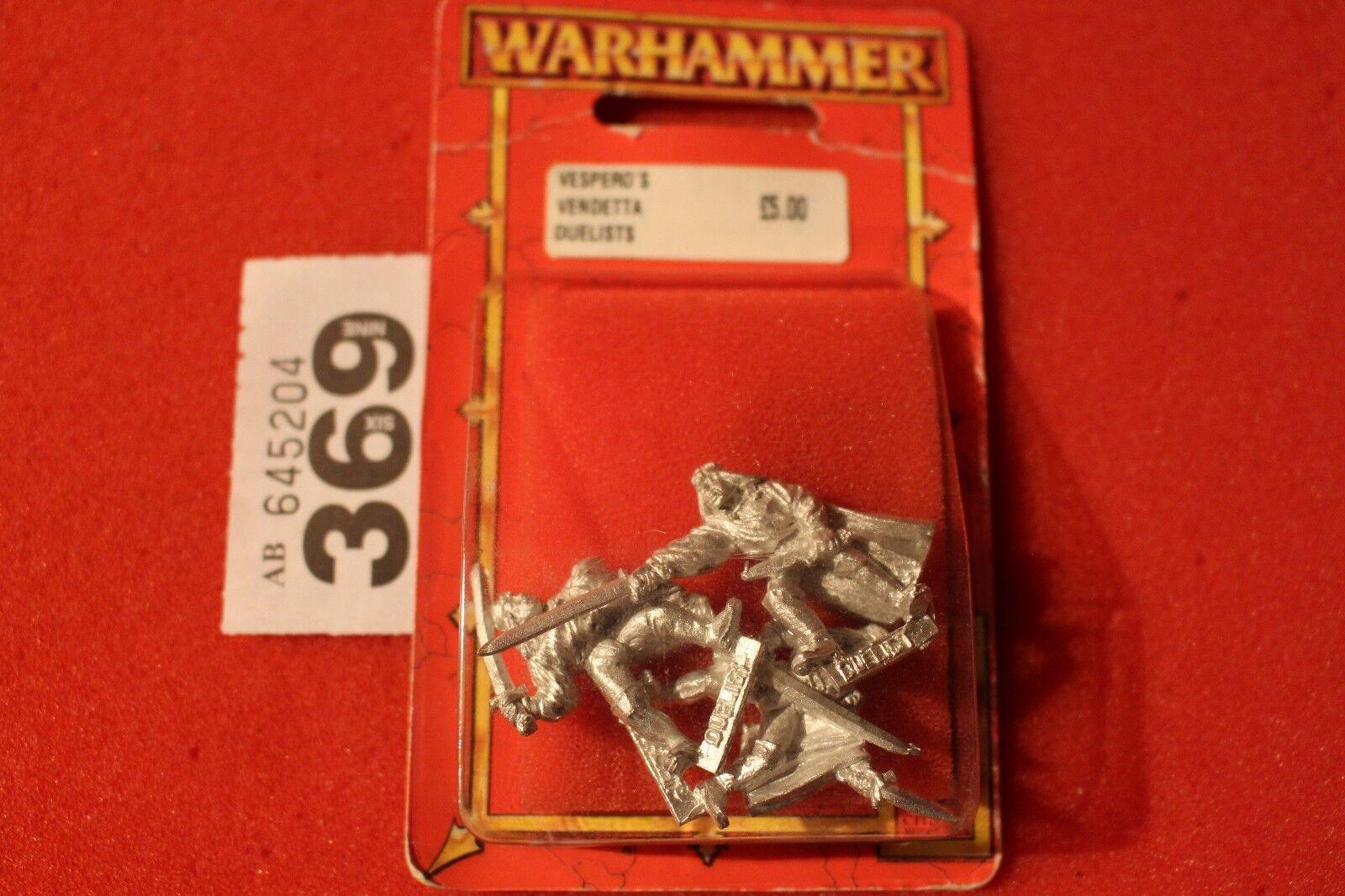 Games Workshop WARHAMMER vesperos VENDETTA I DUELLANTI x3 metallo cani di guerra NUOVO FUORI CATALOGO