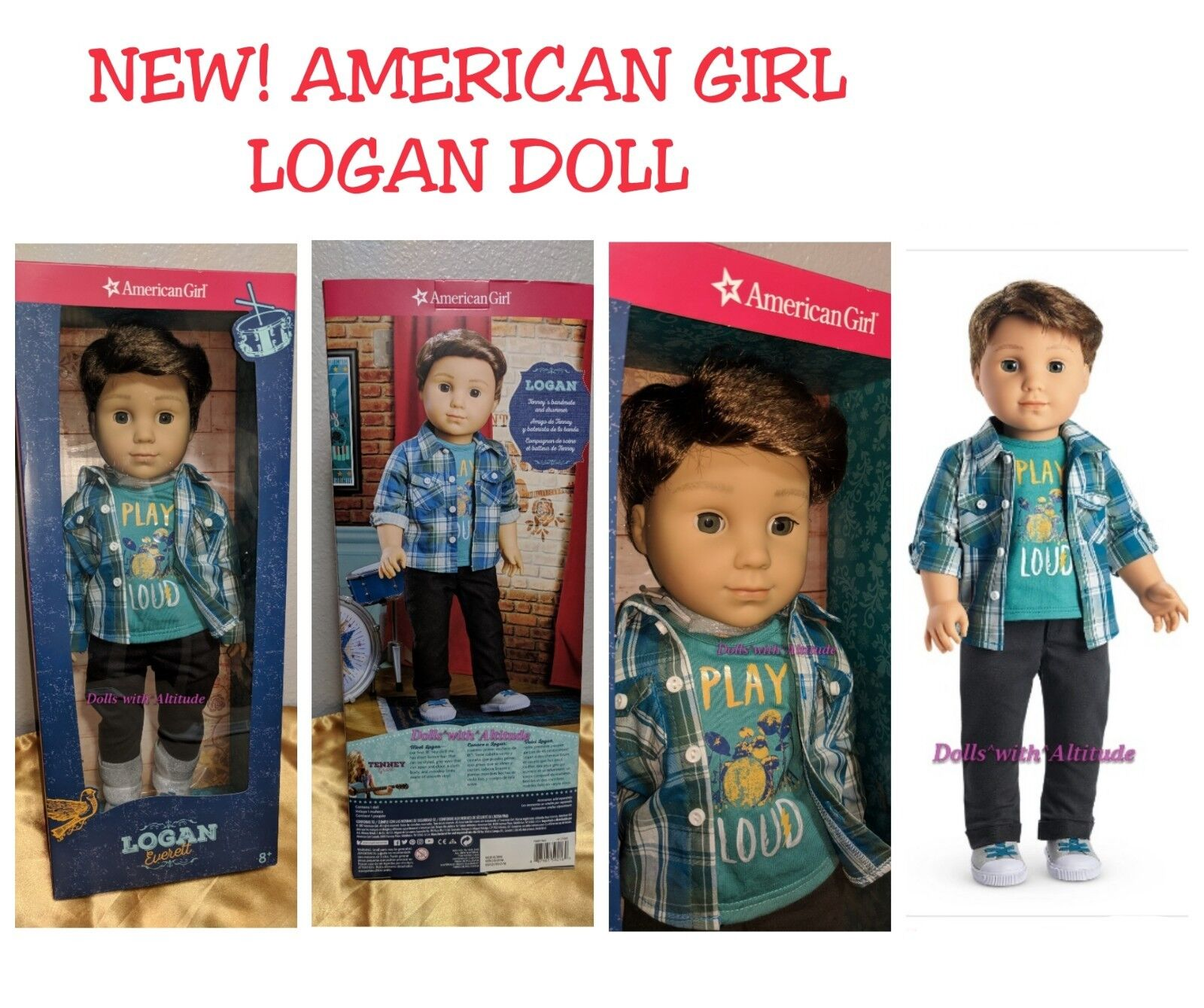 American Girl Logan Everett Muñeca primera Boy Muñeca Banda Mate Nuevo En Caja