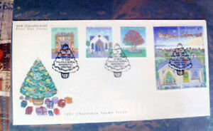 NEW-ZEALAND-CHRISTMAS-ISSUE-SET-OF-6-1992-FIRST-DAY-COVER