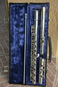 BUFFET-CRAMPON-open-hole-FLUTE-SILVER-PLATE-cooper-225-GREAT-FLAUTO-TRAVERSO