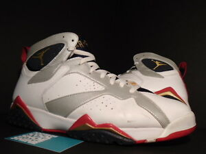 check out e1b1d 35d53 Image is loading Nike-Air-Jordan-VII-7-Retro-OLYMPIC-WHITE-