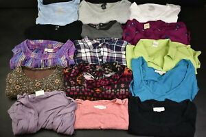 Clothing, Shoes & Accessories Women's Clothing Women's Medium Mixed Various Styles & Brands Long&short Sleeve Tops Lot Of 15