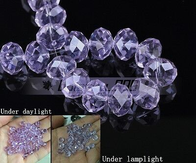100pcs 6mm Rondelle Faceted Crystal Glass Loose Spacer Craft Beads Wholesale Lot