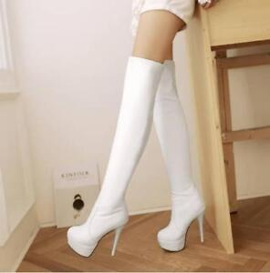 New-Womens-Platform-Over-the-Knee-Thigh-High-Slim-Stiletto-Heel-Boots-Plus-Size