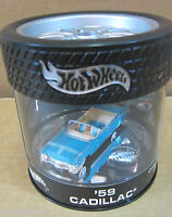 Hotwheel '59 Cadillac Drop Tops Series 1/4 Tire Car In Oil Can Display Case 1:64