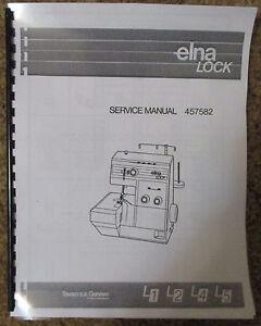 Elna lotus 15, 25, 35 tsp 36 service / repair manual & parts book.