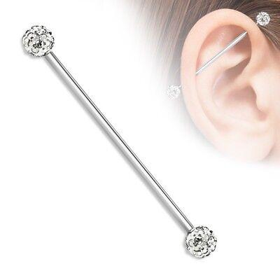 Cz Gem 6mm Ferido Tragus Earring Stud Fake Long Tongue Ring Industrial Barbell P Ebay
