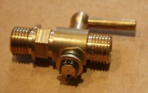 British-Manufactured-Period-BRASS-PLUG-COCK-On-Off-VALVE-TAP-1-4-BSP-THREAD