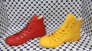 Scarpa Converse All Star Hi Rubber Gomma 144747C Giallo / 144744C Rosso