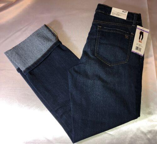 Jessica Simpson Mid Rise Straight Cuff Jeans Romance Wash 4//27 Nwts