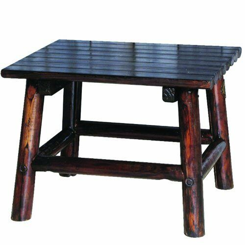 Char Log 24 Inch By 18 High End Table
