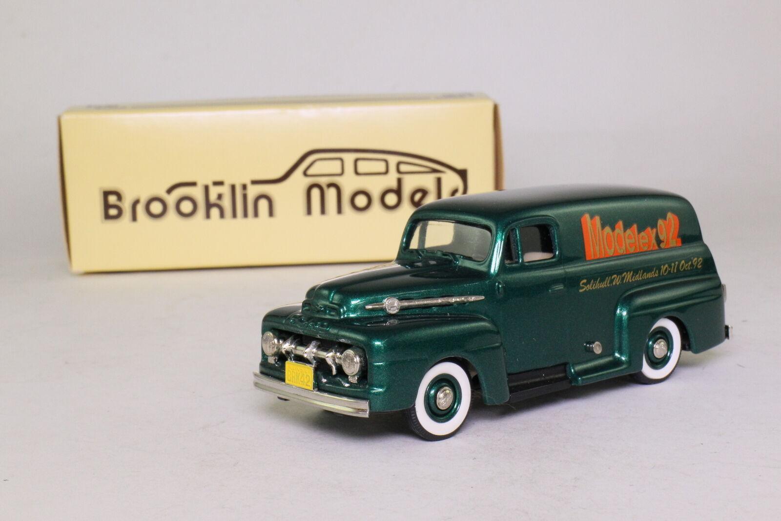 BROOKLIN BRK.42x;  1952 FORD F1 camionnette de livraison; 1992 Modelex; Excellent Boxed  en ligne au meilleur prix