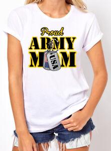 🔥 Proud Army Mom US Army Military Ladies T-Shirt Military ...