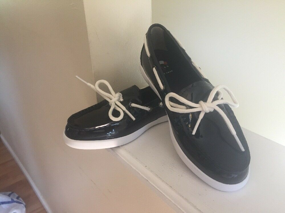 Cole Haan Size 6B Navy Patent Leather Loafers Women's shoes