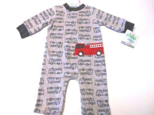 Details about  Pajamas Baby boys Gray Fire Engine pjs Boys sleepwear Fire Trucks Newborn