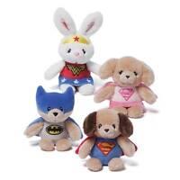 Gund Dc Comics Plush Superhero Baby Rattles / Superman Batman Wonder Woman