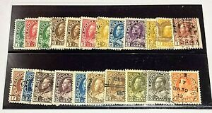 Canada King George V Admiral Issue complete set (104-122) Used - 22 Total stamps