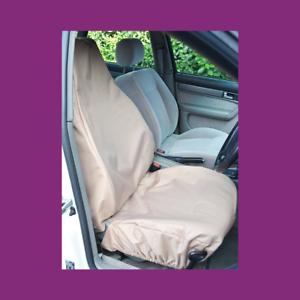 Front Single Car Van Beige Sand Waterproof LARGE Universal Airbag Seat Covers