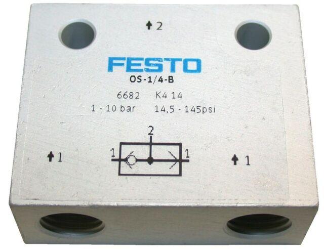 FESTO OS-1//4-B VALVE 6682 1-10 BAR 145 PSI New in Box!