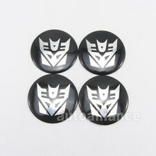 4x Car Transformer Decepticons Logo Wheel Center Hub Cap Badge Sticker Decal