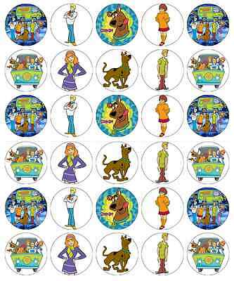 Scooby Doo Cupcake Toppers Edible Wafer Paper BUY 2 GET 3RD FREE!