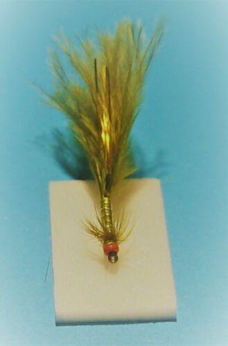 4 X Black/'s Scotflytyer Enticer Damsel Nymph Size 12 B830 Red Bead