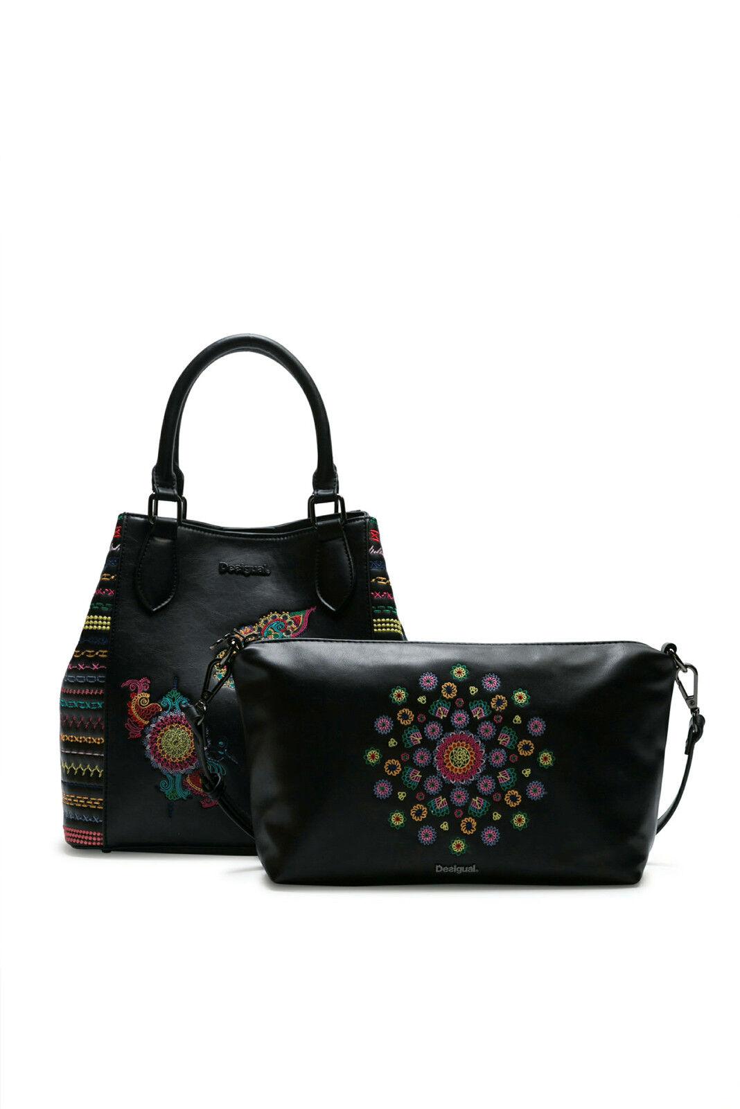 Desigual Tropic Carry Shoulder Bag Raspberry Bis