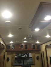 "12 NEW 4.5"" LED 480 LUMEN RECESSED INTERIOR CEILING LIGHTS FOR RVs BOATS 12V"