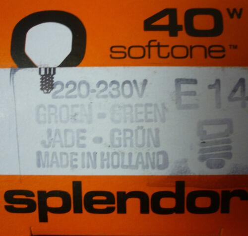 splendor Glühlampe grün T45 E14 40W Softone JADE wie BELLALUX Softone Glühbirne