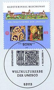 Rfa-2008-Reichenau-No-2637-Avec-Sauberem-Bonner-Ersttags-Sonderstempel-1A