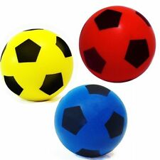 Sponge/Foam Soccer Football 20cm - Size 5 - Indoor/Outdoor Use - Red/Blue/yellow