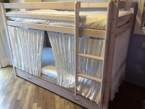 Letto A Castello A Tre Letti.Solido Letto A Castello A 3 Letti 90x190 Colore Bianco Ebay