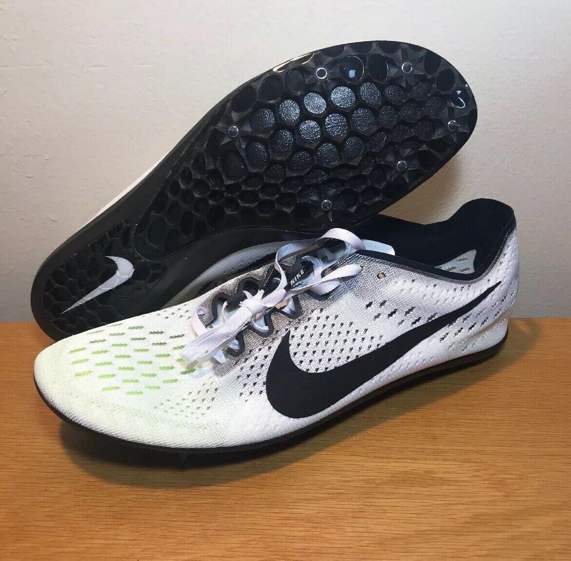 NEW Nike Zoom Victory Elite 2 2 2 Track Racing Spikes Sz 12.5 Black White 835998-107 b62f58