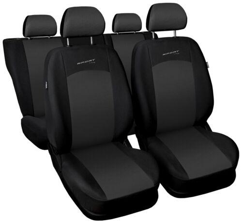 Sitzbezüge Sitzbezug Schonbezüge für Honda Jazz Dunkelgrau Sportline Komplettset