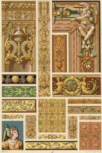 Decoration-Style-Renaissance-decor-floral-Lithographie-XIXeme