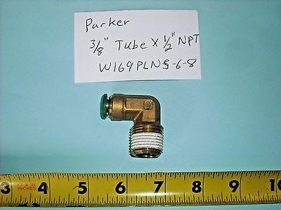 """PARKER PRESTOLOK 3//8/"""" Tube x 3//8/"""" MNPT Brass Swivel 90 Degree Elbow 5PK"""
